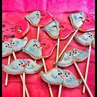love birds cookie pops!