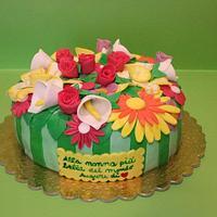 Cake flower arrangements