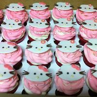 Hello Kitty Cupcakes by ScrumptiousPetites