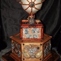 Steampunk 40th Birthday Cake