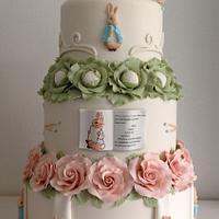 Peter Rabbit wedding cake ,Cake International entry 2014