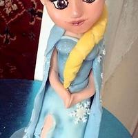 Hand sculpted Elsa from Frozen