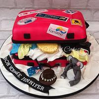 Australian luggage cake
