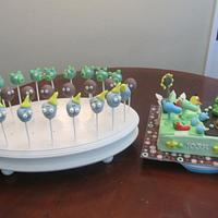 Angry Birds & Plants vs Zombies Team Up Cake and Cake Pops