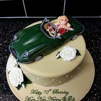 Jaguar E Type cake