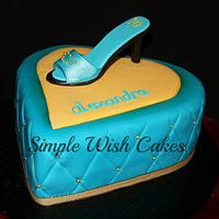 Blue heart shoe cake by Stef and Carla (Simple Wish Cakes)