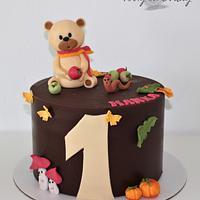 Autumn teddy bear