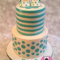 Tiffany Blue Baby Shower Cake