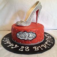 Red Carpet Event - Fashion shoe (Christian Louboutin) Birthday cake