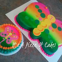 1st BDay Butterfly Cake and Smash Cake Buttercream Icing