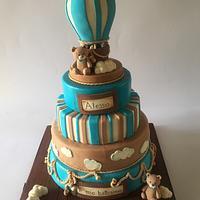 Hot-air balloon cake