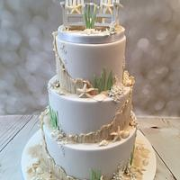 'Hamptons' beach cake