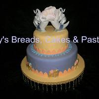 Indian styled wedding cake