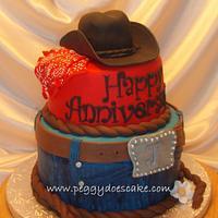 Cowboy Anniversary Cake