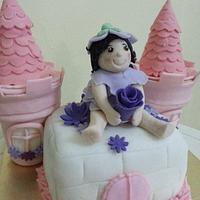 fairy+castle cake