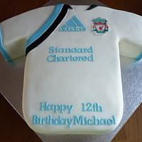 Liverpool Shirt Cake