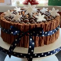 The Chocoholic's Christmas Cake