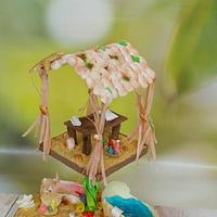 Fantasy Undersea Spa :  Cakerbuddies Miniature  Doll House Collaboration