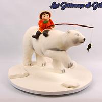 Polar bear and kid. Orlando Satin ice competition