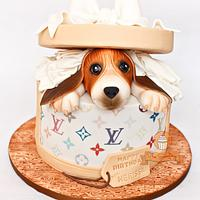 Hatbox Doggie Surprise