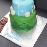 Golf Cake by NickySignatureCakes