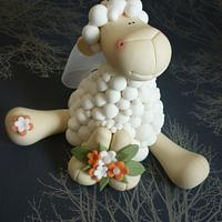 Sheep wedding cake toppers
