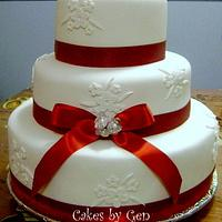 My First Fondant Wedding Cake