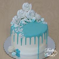 Drip frozen cake
