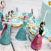 Frozen theme sweet table