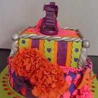 Purple shoe cake by liesel