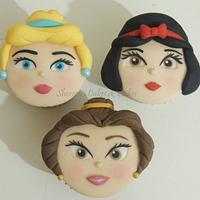 Princess Faces Cupcakes