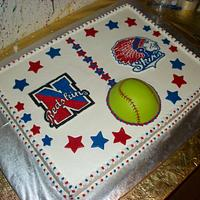 Softball Team Cake by Tracy's Custom Cakery LLC