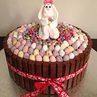 Easter Bunny Kit Kat Cake by Cleo C.