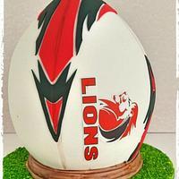 Lions Rugby Fan Cake