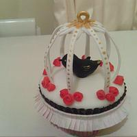 3d birdcage cupcake