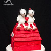 Snoopy in Love...Belated Wedding Cake