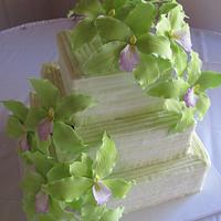 Green Orchid Pleated cake