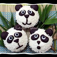 Lime and Coconut Panda Cupcakes