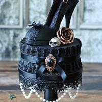 Gothic shoe cake