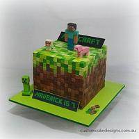 Minecraft Dirt Cube Cake