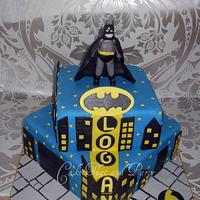 batman themed cake
