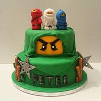 Lego Ninjago theme birthday cake