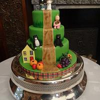 The green wedding cake