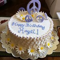 Groovy birthday cake!