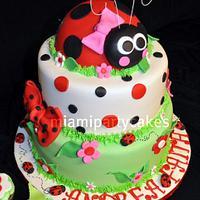 Spring Lady Bug Cake