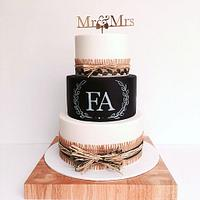 Shabby-Chis Country Wedding Cake