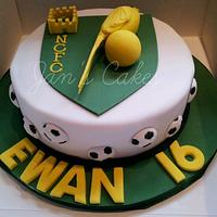 Norwich City Football Club birthday cake