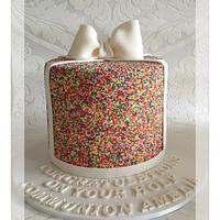 Sprinkles Communion Cake