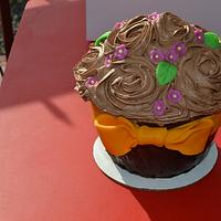 Giant Chocolate Cupcake by CrystalMemories