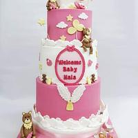 baby shower cake for girl